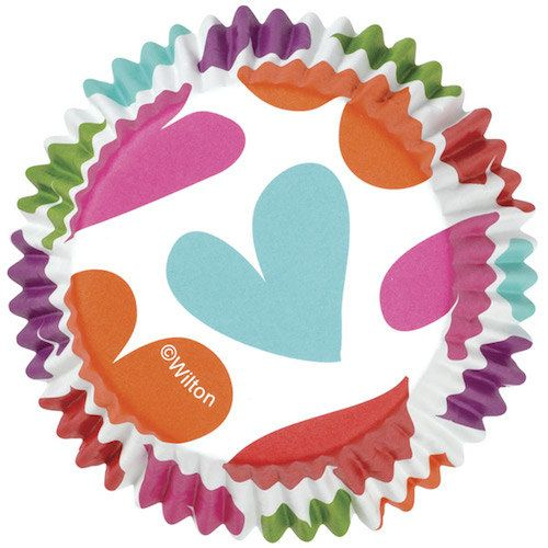 Hearts Colorcups Greaseproof Cupcake Liners Baking Cups Muffin