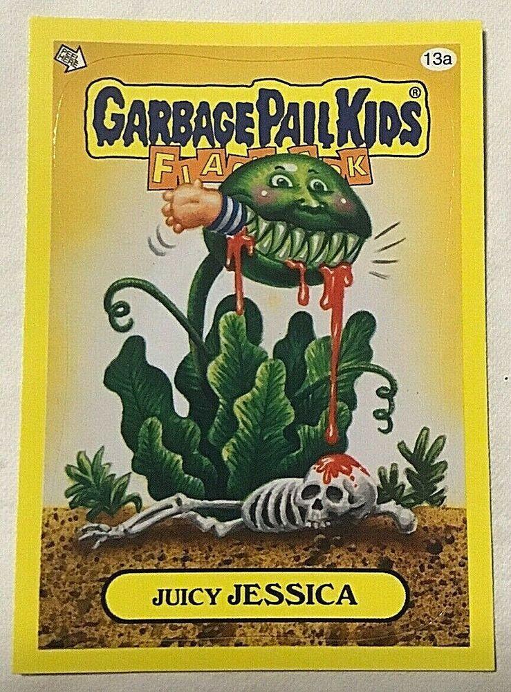 2011 Garbage Pail Kids Flashback Series 3 Juicy Jessica 13a Yellow Gpk Nm Topps Garbagepailkids In 2020 Garbage Pail Kids Garbage Pail Kids Cards Pail