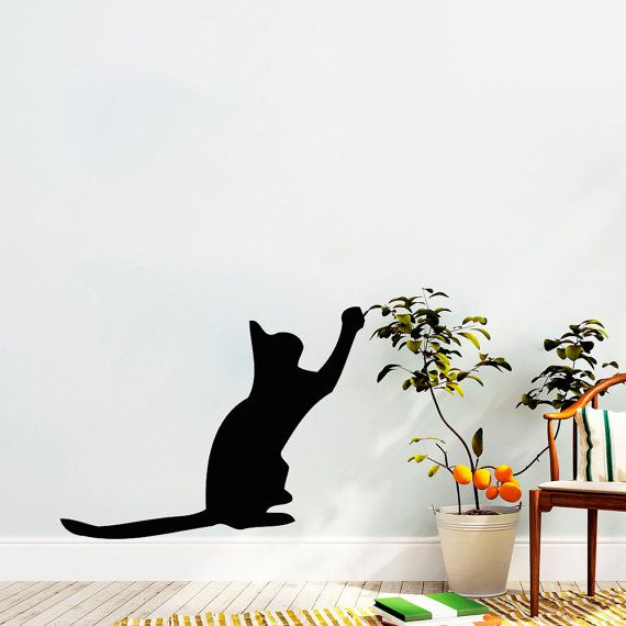 Wall Decals Decal Vinyl Sticker Cat Shop Home Decor Kitchen - Vinyl decal cat pinterest
