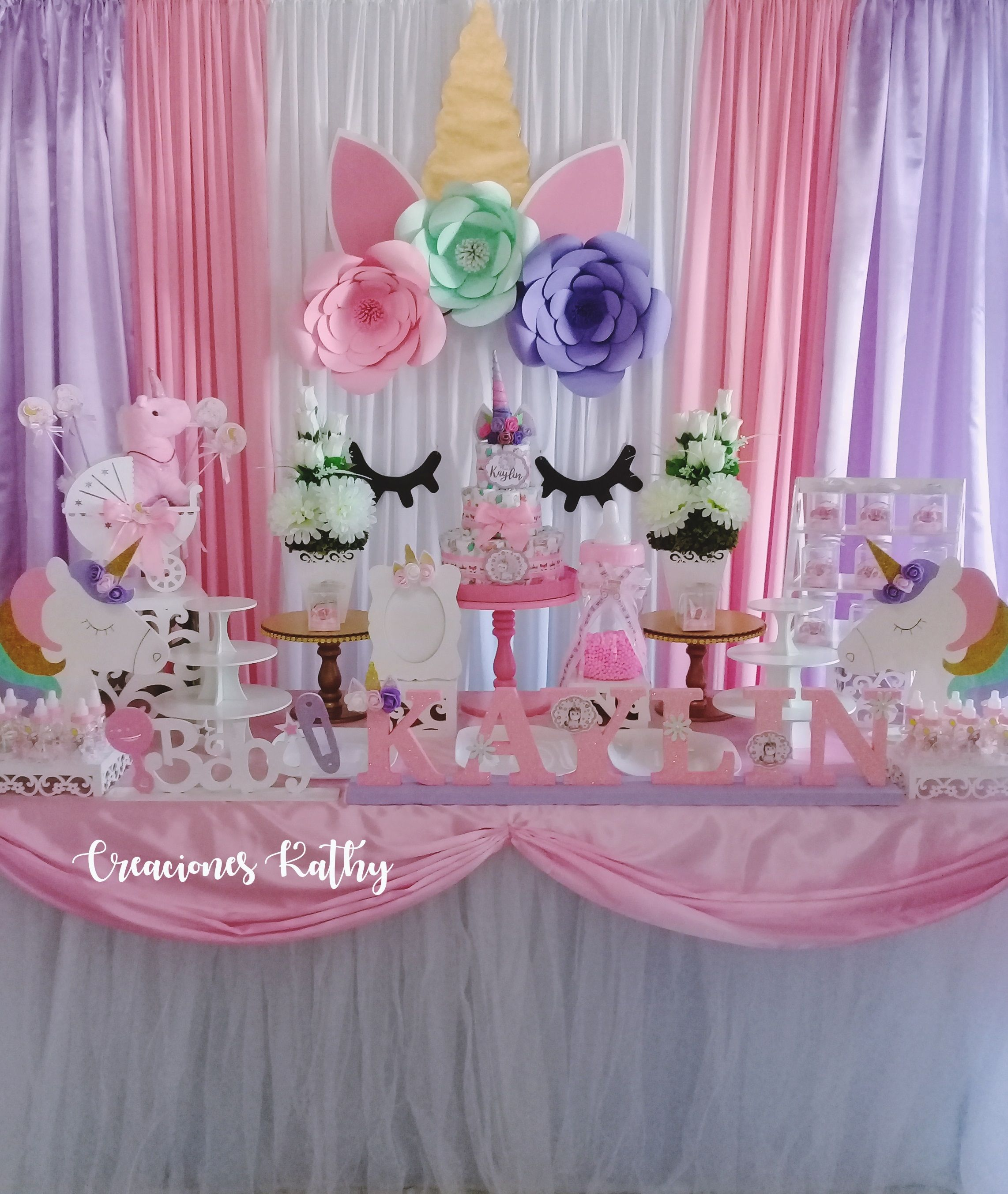 Decoración Babyshower Unicornio En 2019 Decoración De