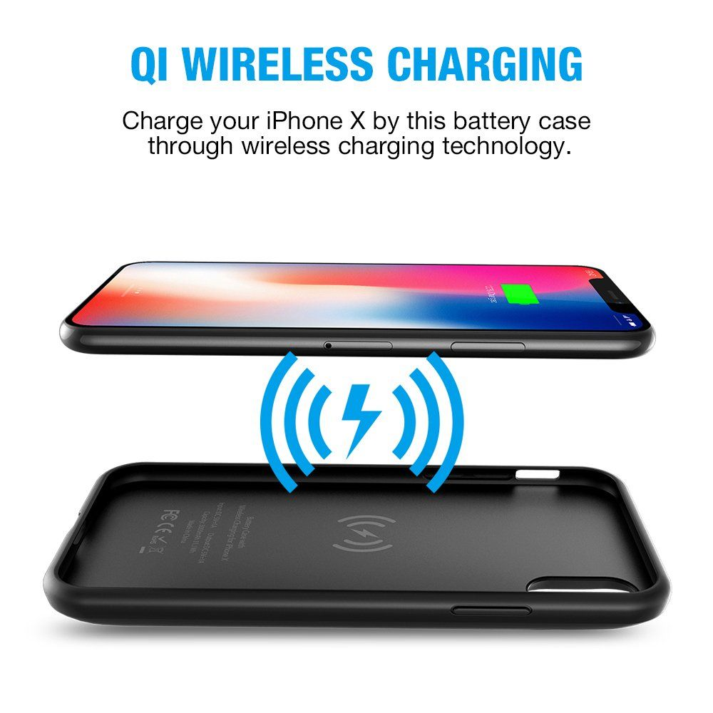 size 40 f8807 f4f70 iPhone X Battery Case with Qi Wireless ChargingSupport Lightning ...