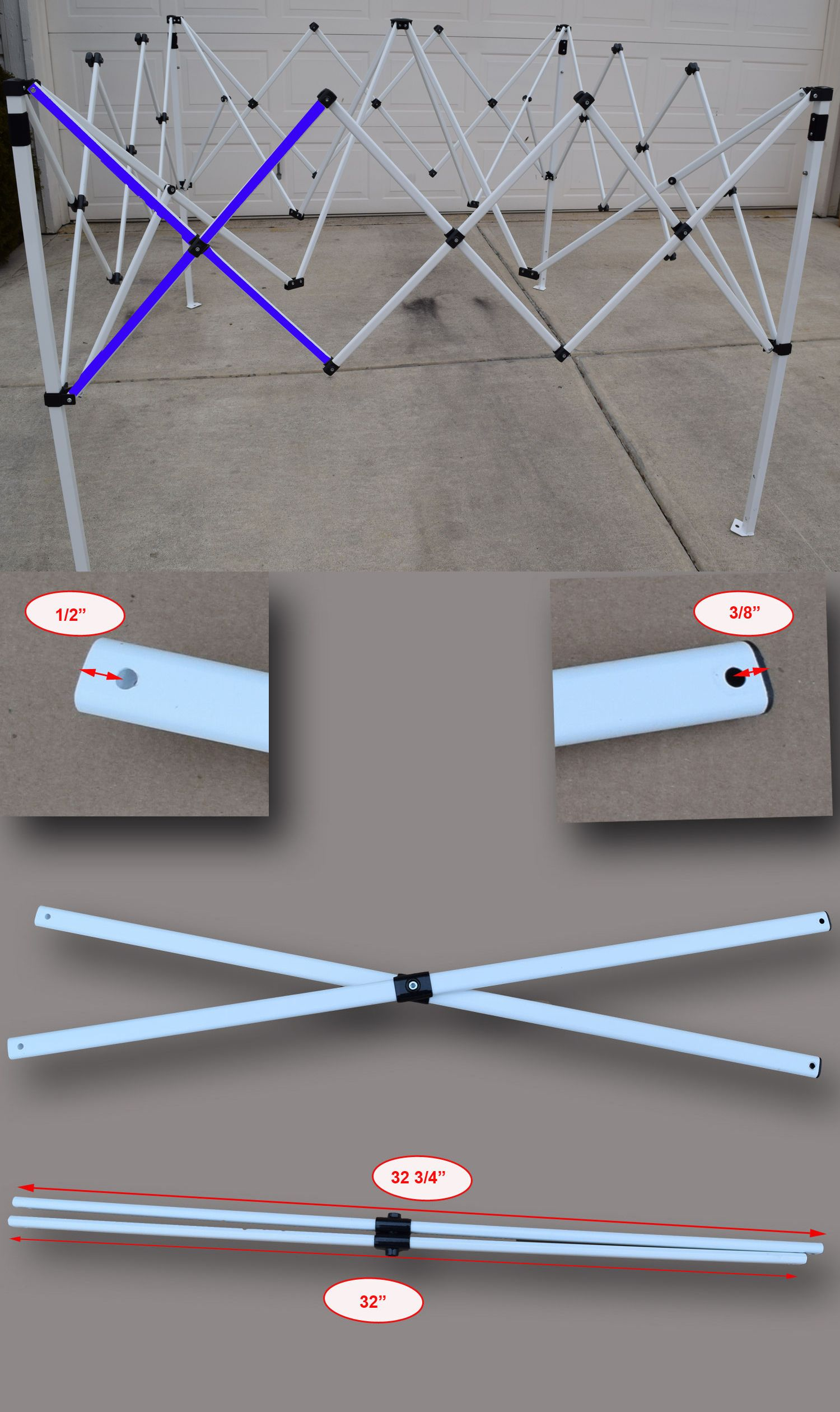 Ozark Trail Slant Leg First Up 10 X 10 Canopy Gazebo Metal Side Truss Bar Parts Ozark Trail Gazebo 10 Things