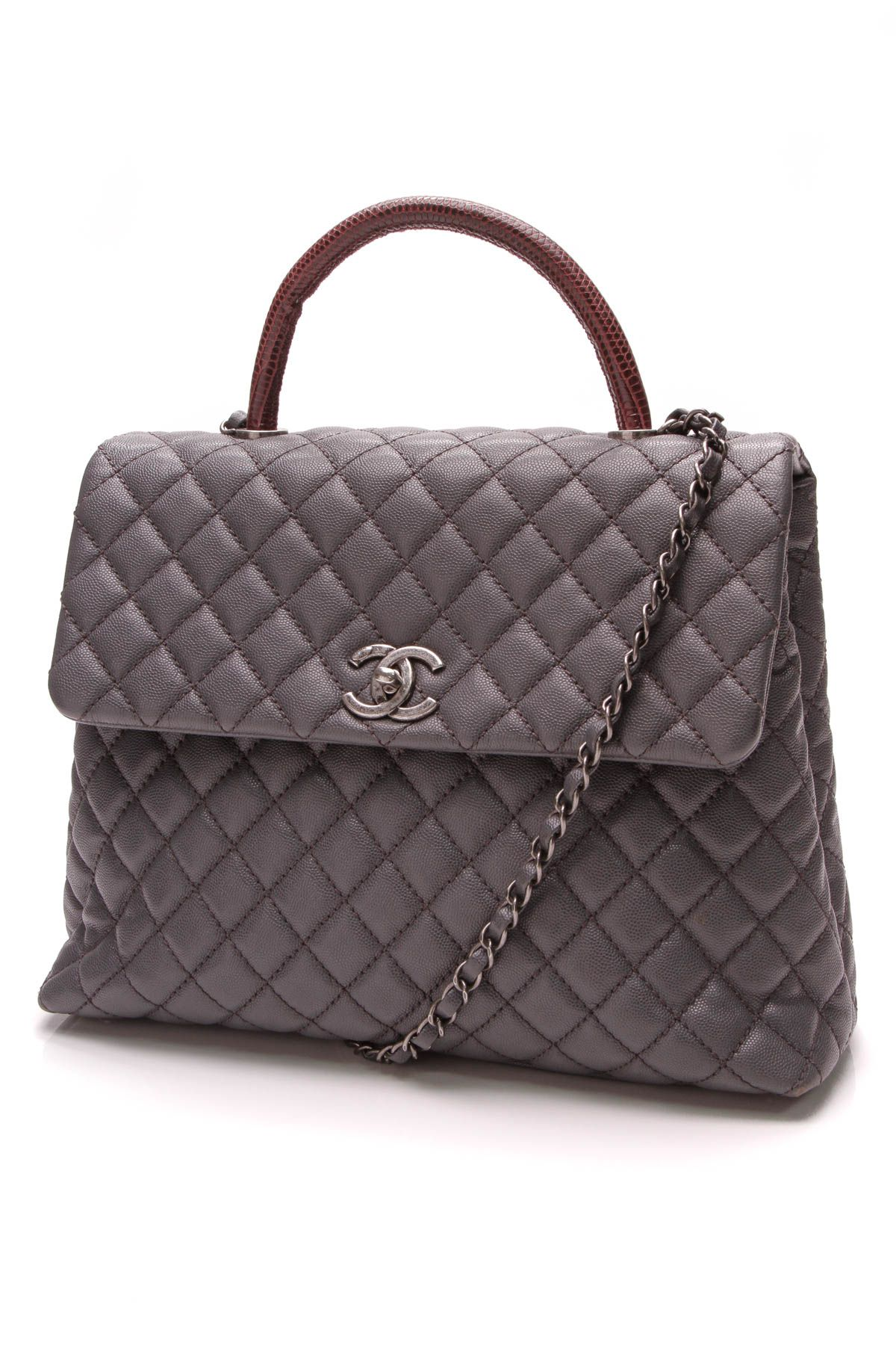 ad366d1a510497 Chanel Coco Handle Large Bag - Gray Caviar | Crazy for Coco | Chanel ...