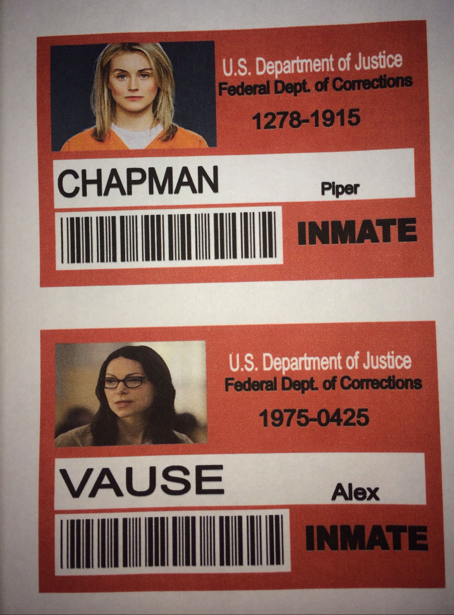 Do it yourself orange is the new black id tags for halloween i made do it yourself orange is the new black id tags for halloween i made these myself solutioingenieria Gallery