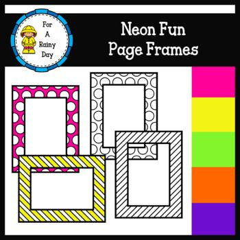 Neon Fun Page Frames (sized 8.5 x 11) | Pinterest | Frame sizes ...