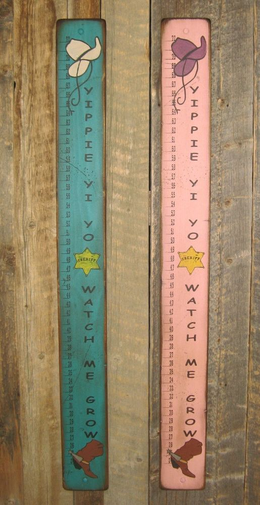 Child   measuring stick yippie yi yo watch me grow handcrafted with pride in the west drop ship click photo images to see  picture of also wall sign home kids barrett rh pinterest