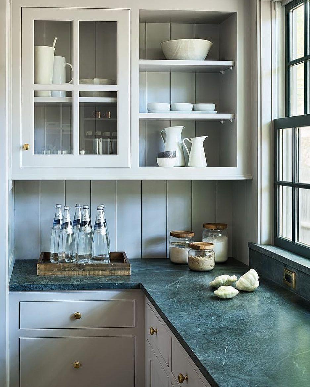 Inframe kjøkken m grønn marmorbenk   Kjokkeninspirasjon   Pinterest