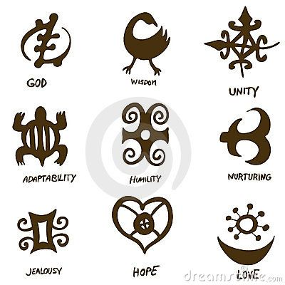 Adinka Symbols West African Wisdom Eternal Life And Beautiful