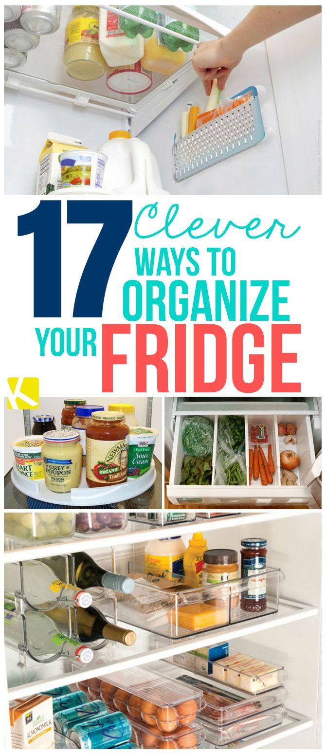 clever ways to organize your fridge organizations pinterest