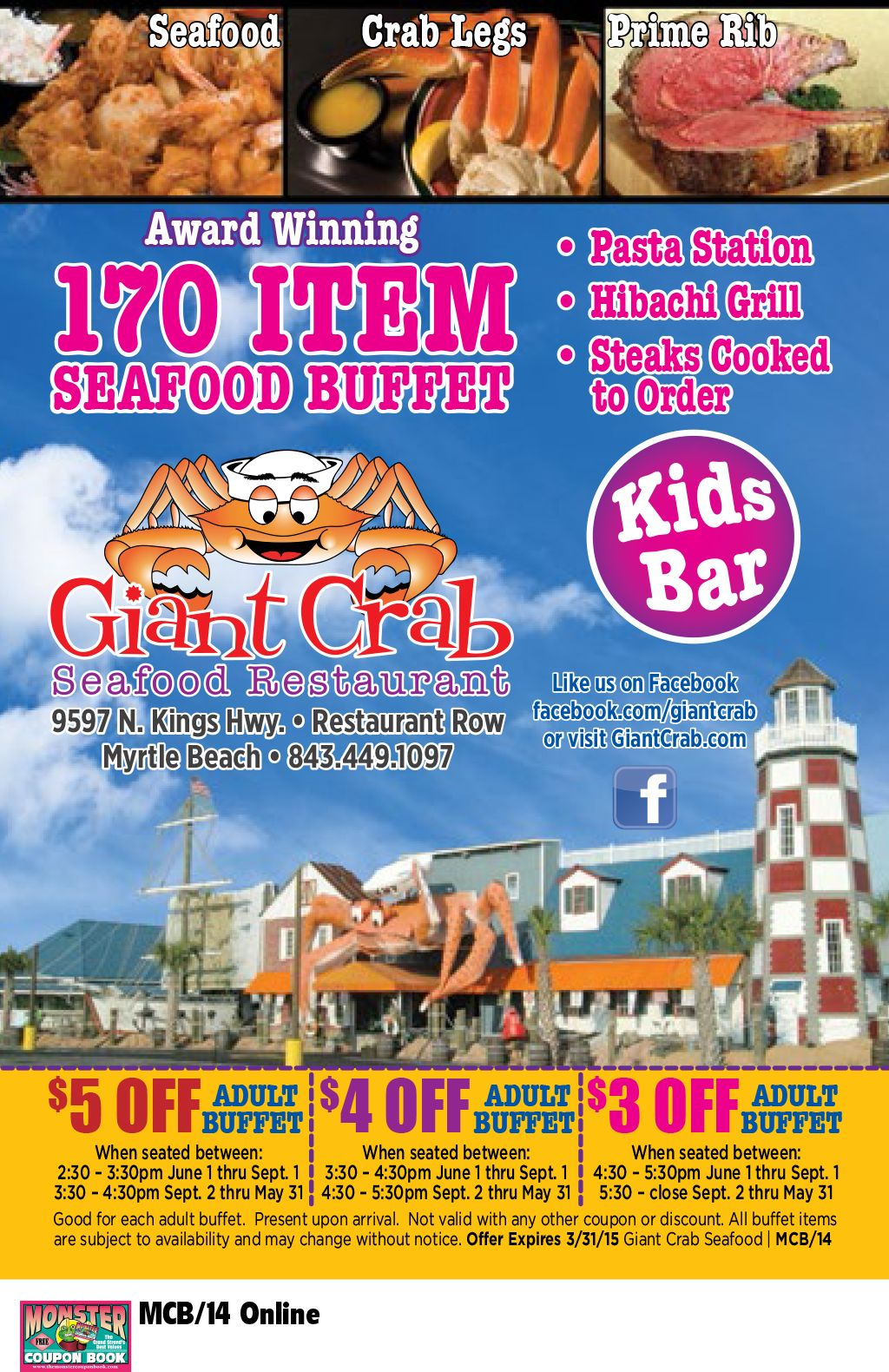 Giant Crab Seafood Restaurant Myrtle Beach Resorts