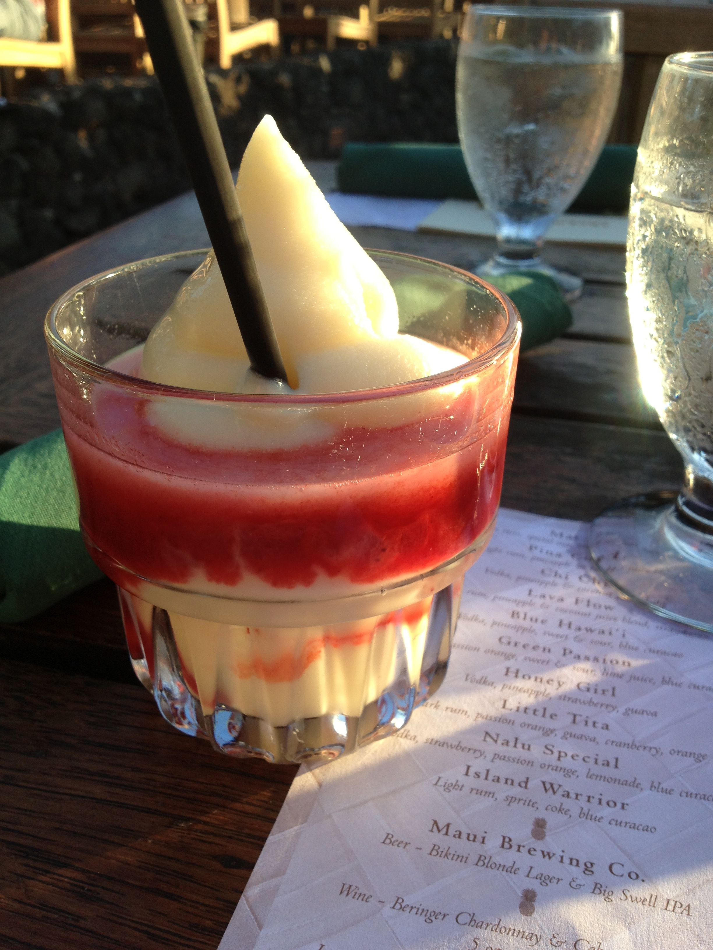Virgin Lava Drink At The Laui At The Old Lahina Laui These Were So Good And The Luau Was Cool Can T Wait To Go Back Luau Maui Destination Wedding