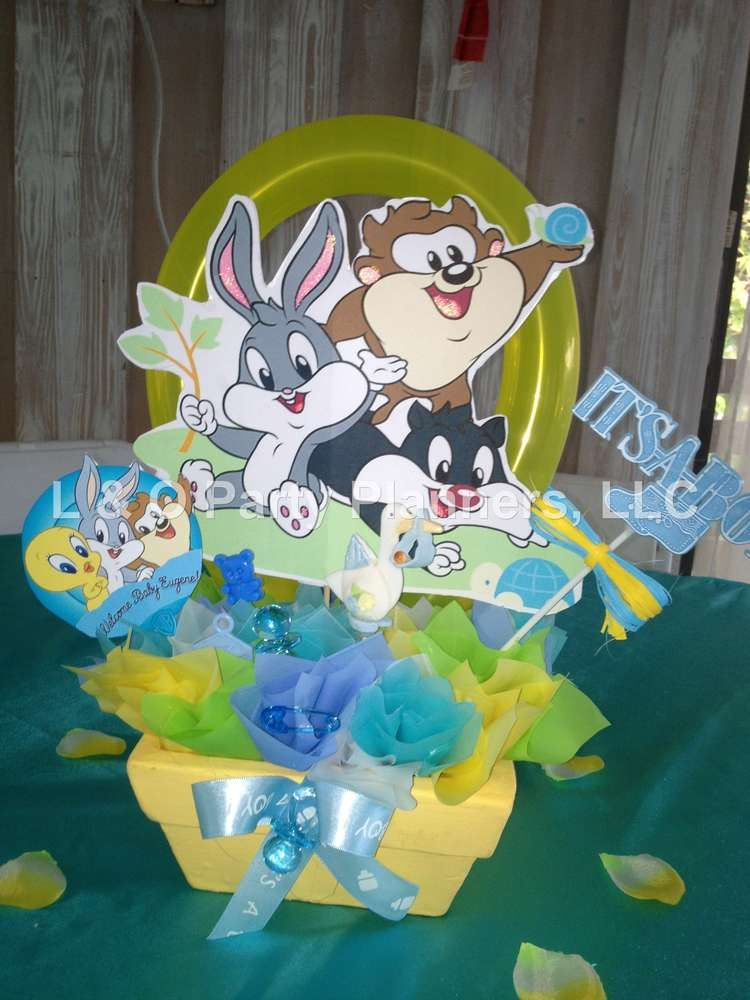 Baby Looney Toons Baby Shower Theme : looney, toons, shower, theme, Looney, Tunes, Shower, Party, Ideas, Photo, Tunes,, Party,