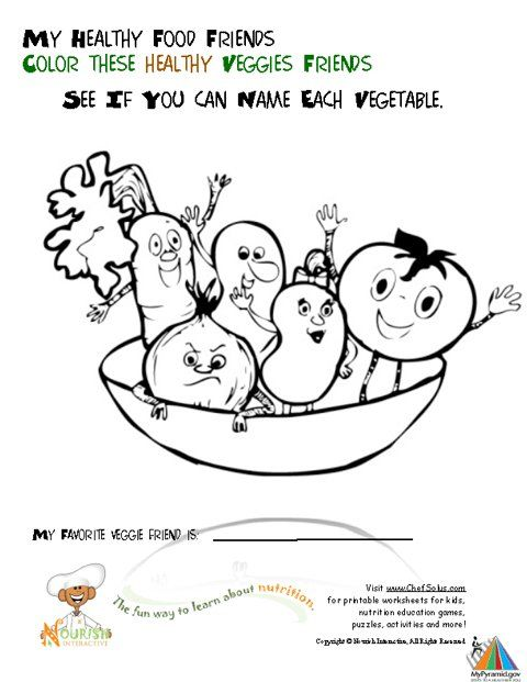 Coloring Pages To Teach Kids About Fruits Veggies The Site Has