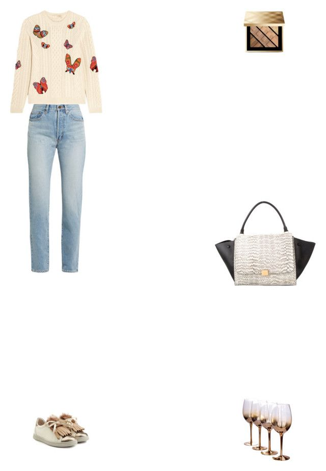 """Grace"" by zoechengrace on Polyvore featuring Yves Saint Laurent, Valentino, Brunello Cucinelli, CÉLINE and Burberry"