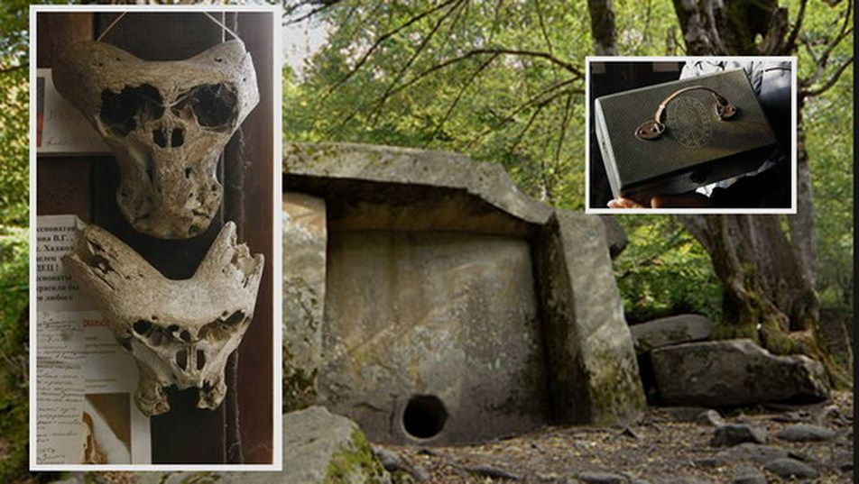 Strange briefcase and skulls found in the mountains in Russia