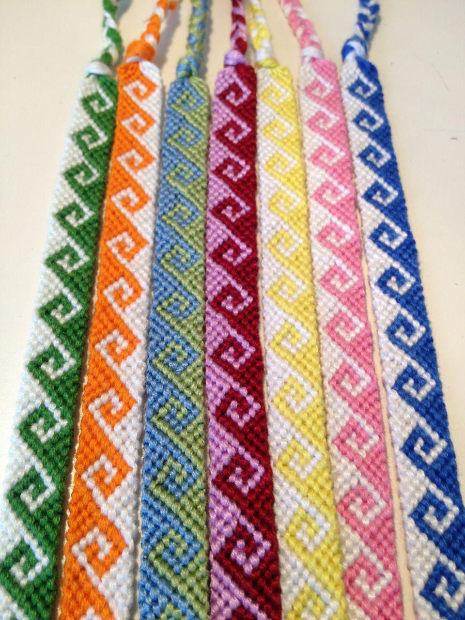 Spiral Friendship Bracelet Pattern Number 8534  For More Patterns And  Tutorials Visit Our Web Or