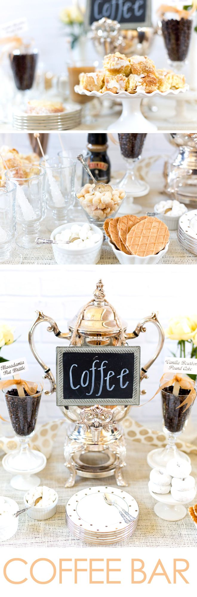 How to style a Coffee Bar Party! Coffee bar party