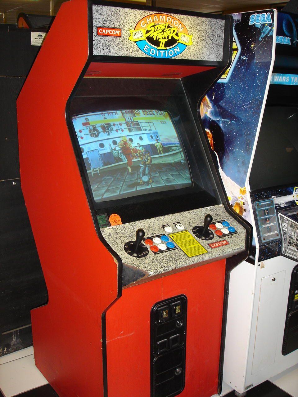 street fighter 2 hyper fighting arcade machine