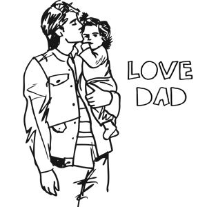 i love my daughter coloring pages | Free Unique and Printable Father's Day Coloring Pages for ...