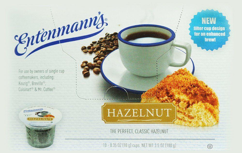 Entenmanns hazelnut capsulek cup 10 pack box of 4