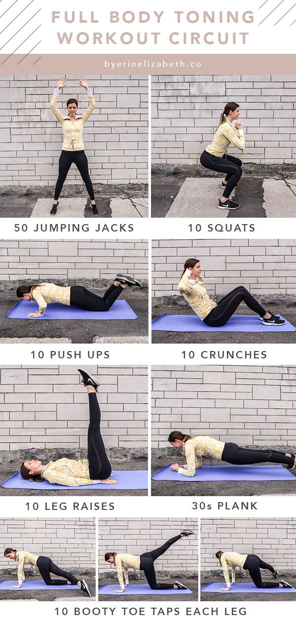 Full Body Circuit Workout At Home With No Equipment Needed