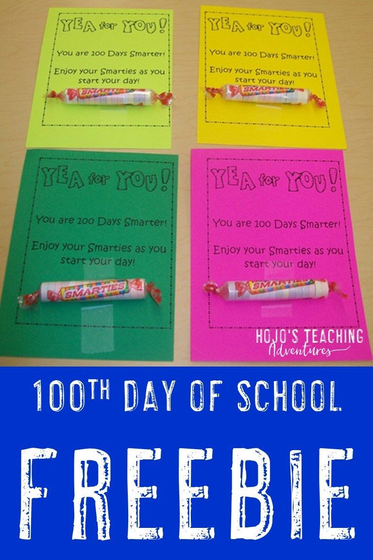 100 Days Smarter! FREE Download for the Classroom - Hojo's Teaching   100  day of school project [ 1152 x 768 Pixel ]