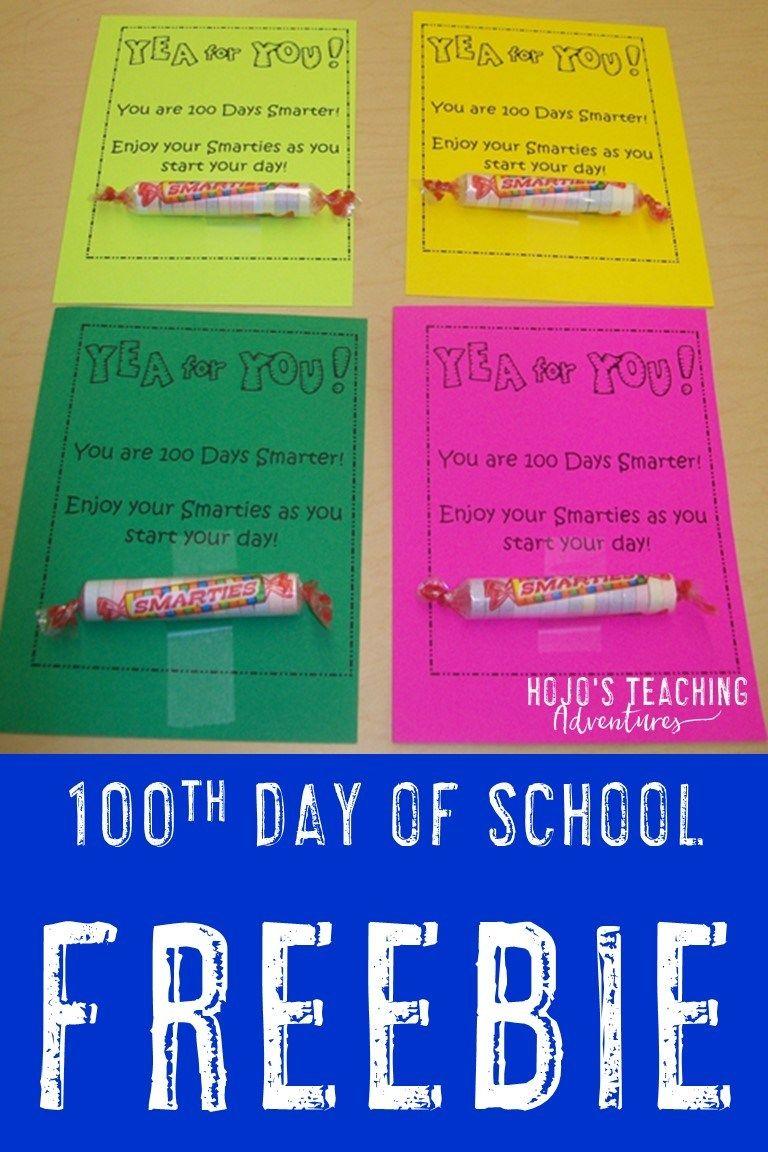 100 Days Smarter Free Download For The Classroom Hojo S Teaching 100 Day Of School Project 100 Days Of School Kindergarten Jobs