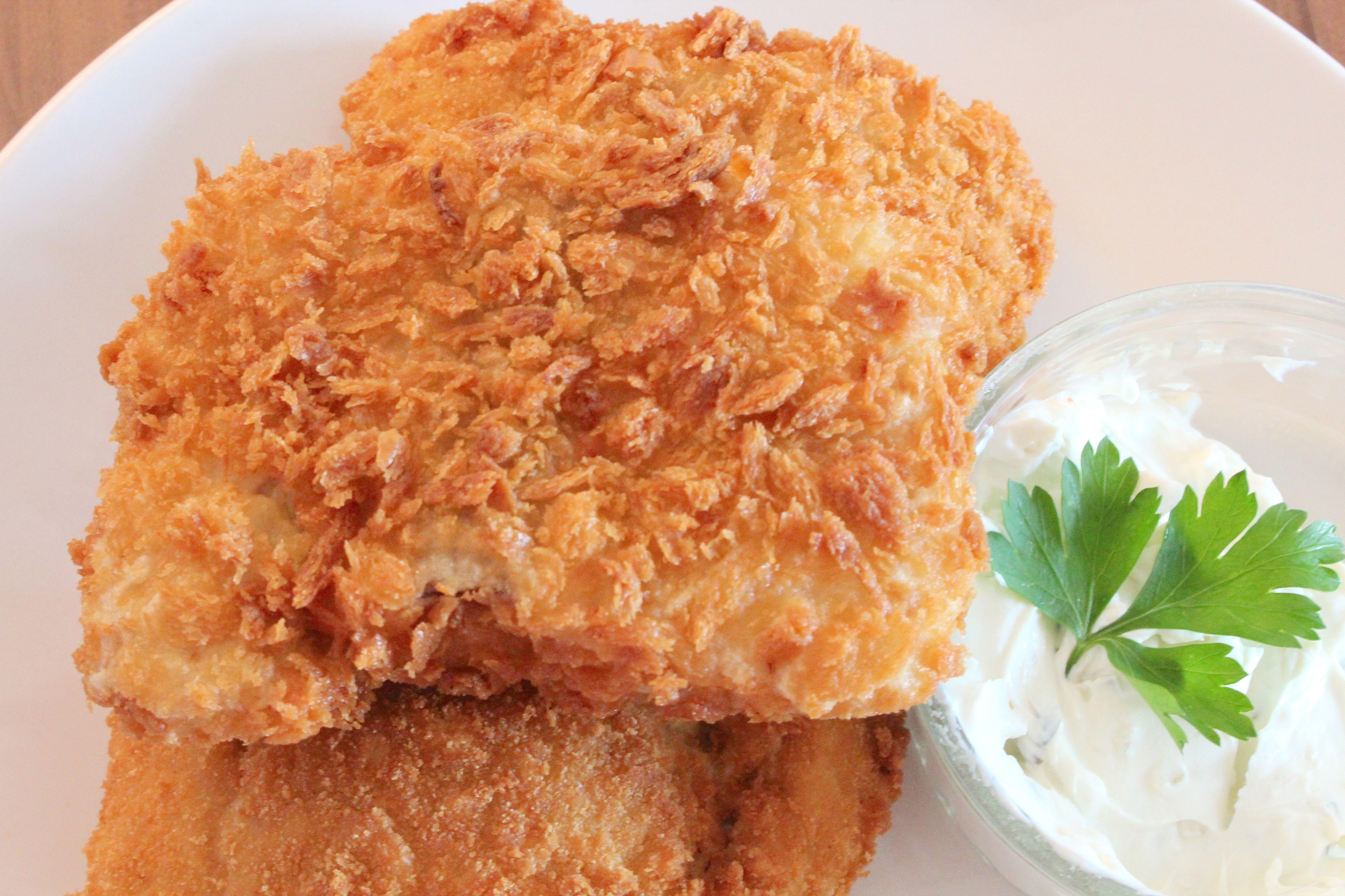 Bread Crumb Fried Salmon Salmon Goreng Tepung Roti Bilingual Eng Indonesia Makanan Rotis Remah Roti