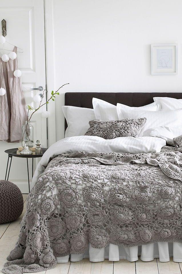 Like the crochet cover over the duvet!! | CRAFTS - Crochet ...
