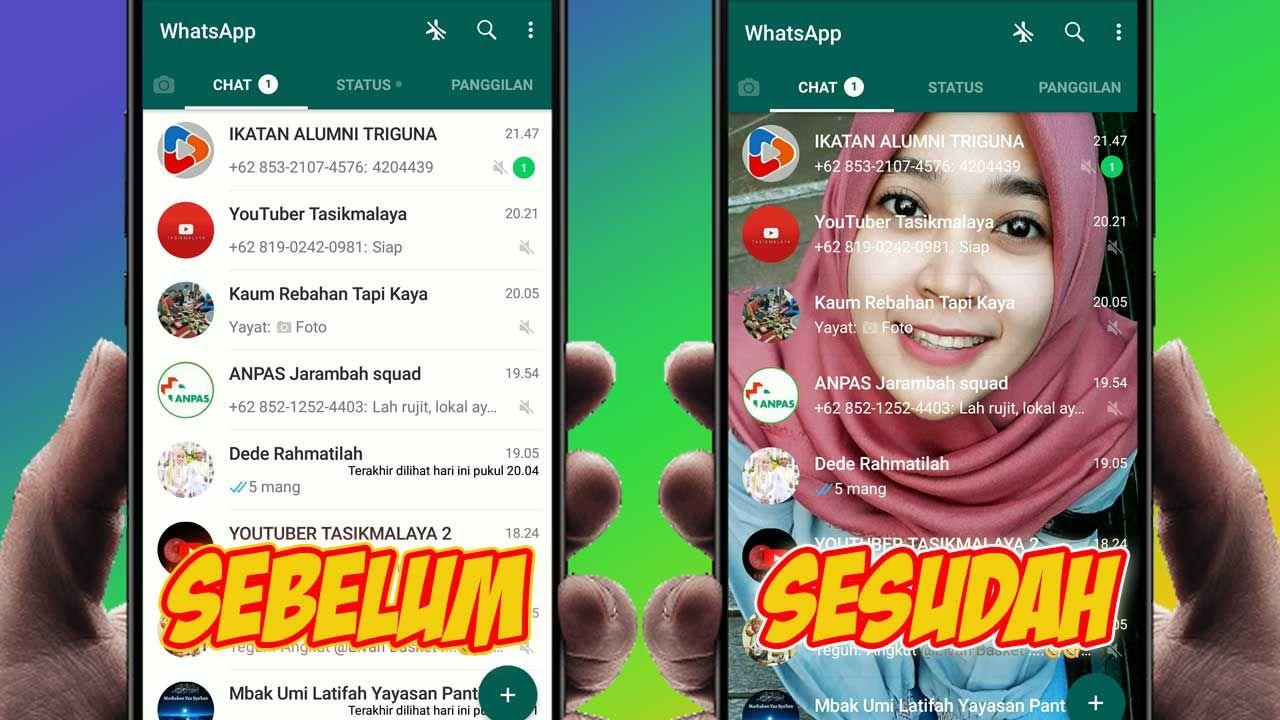 Cara Mengubah Tema Whatsapp Dengan Background Foto Sesuai Keinginan Kalian Gelap