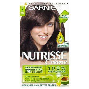 Garnier Nutrisse Creme Darkest Brown 30 Hair Color Permanent Hair Color Nourishing Hair