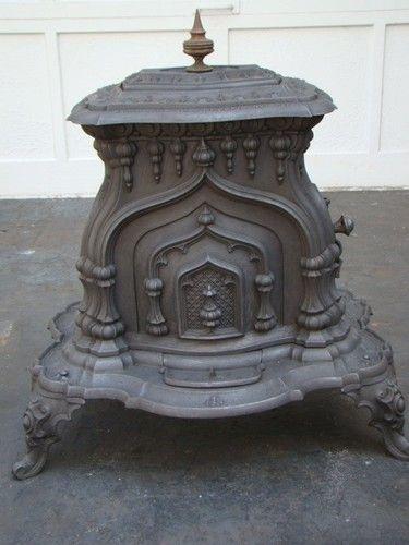Antique 1852 Victorian Parlor Stove Ornate Cast Iron Stove Antique Wood Stove | eBay