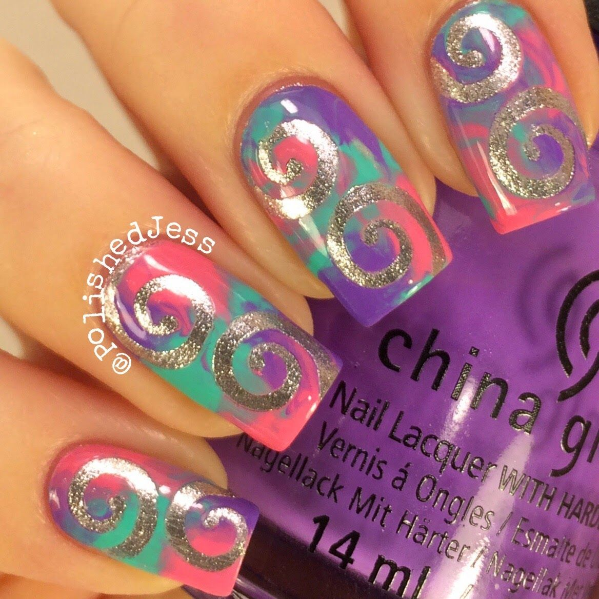 Polished Jess Twinkledt Swirl Vinyls Review Nail Art Community