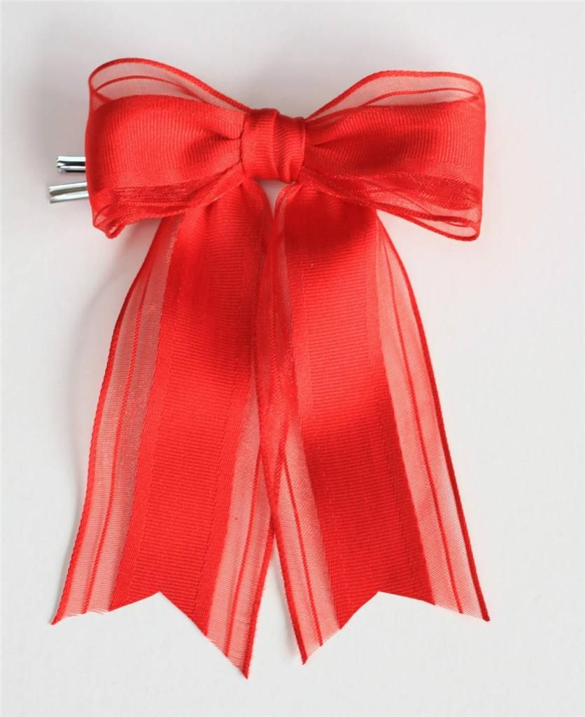 Red wire edged bow