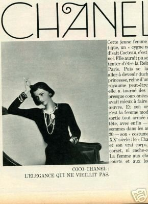1937 - french article about Chanel