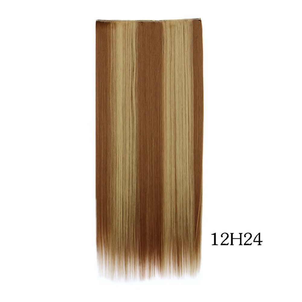 Yiwu's wig factory direct wholesale five piece long straight hair extension card issuing child wig hair piece explosion models in Europe and America 12H24