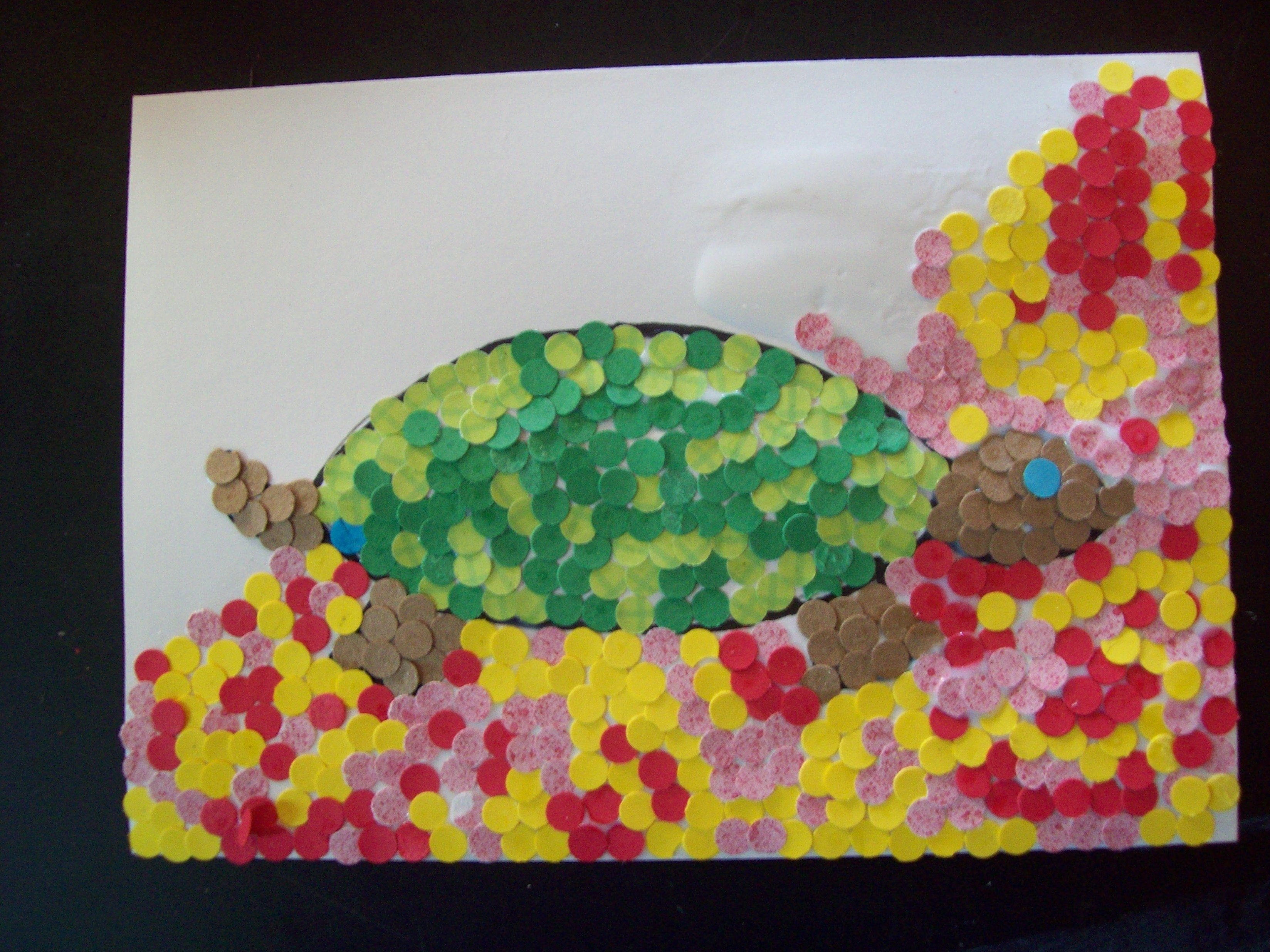turtle in progress--use coloring pages or draw your own! | Learning ...