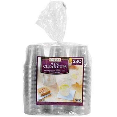 daily chef clear plastic cups 9 oz cups 240 ct
