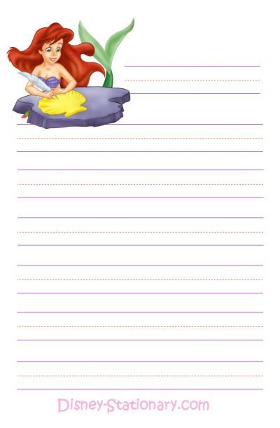 Free Printable Disney Stationary Writing Paper notes  Stationery