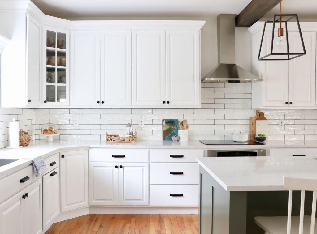 White Kitchen Reveal-HanStone Quartz in Montauk-Chantilly ...