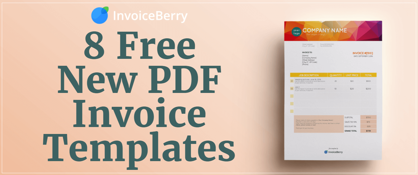 invoiceberry is excited to present you 8 brand new free editable