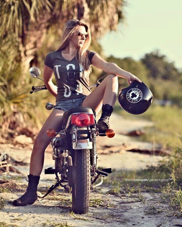 Horny girls on motorcycle