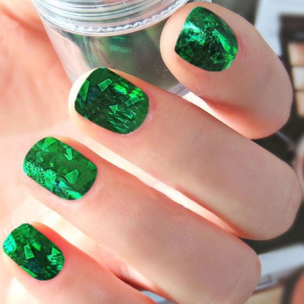 50pcs foils finger diy nail art sticker decal water