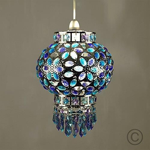 Traditional Moroccan Style Chrome Chandelier Ceiling Light