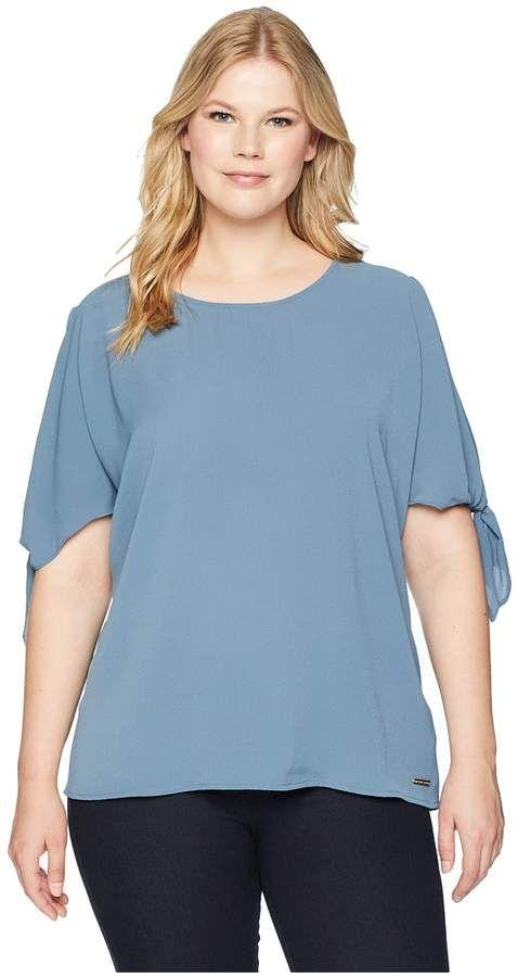 04c1399ac12 MICHAEL Michael Kors Plus Size Cold Shoulder Bow Top Women s Clothing
