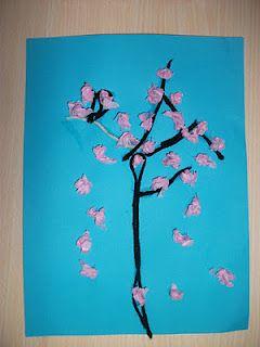 Preschool Crafts For Kids Spring Cherry Blossom Tree Craft Spring Toddler Crafts Spring Crafts Preschool Preschool Arts And Crafts