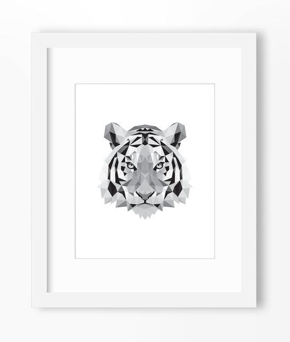 Tiger Print Art Wall Geometric