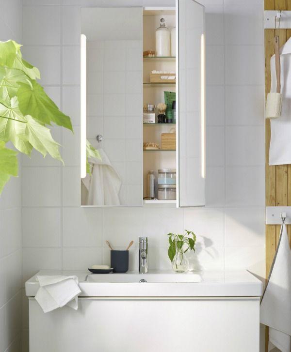 Mirror Doorsamp; LightWhiteBathrooms W2 Ikea Cabinet Storjorm OlXTPwiZku