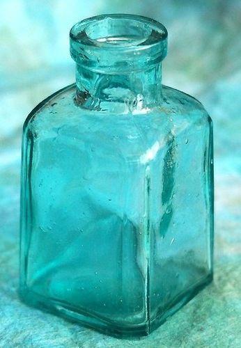 Antique Sea Glass Blue bottle
