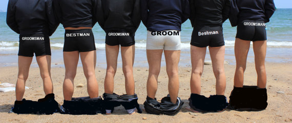 Personalized Men Underwear Groom Gift Groomsman Wedding Personalize Anniversary By Minjing On Etsy